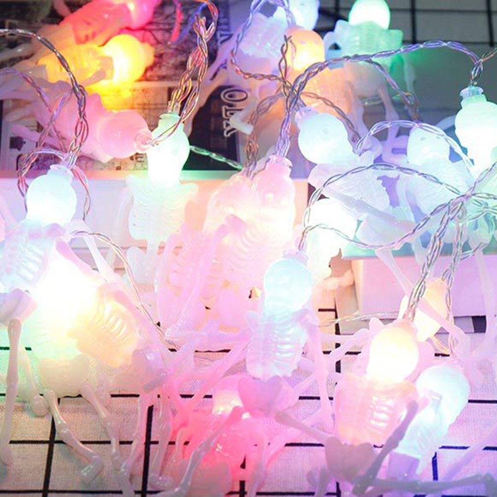 10 HA CONDOTTO Le Luci Della Lanterna Del Partito A Casa Oggetti di Scena Decorazione di Halloween Zucca Stringa Fata Battery Operated Luce