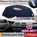 Для Citroen C5 2008 2009 2010 2011 2012 2013 2014 2015 2016 2017 MK2 Противоскользящий коврик приборной панели крышки Зонт приборной аксессуары