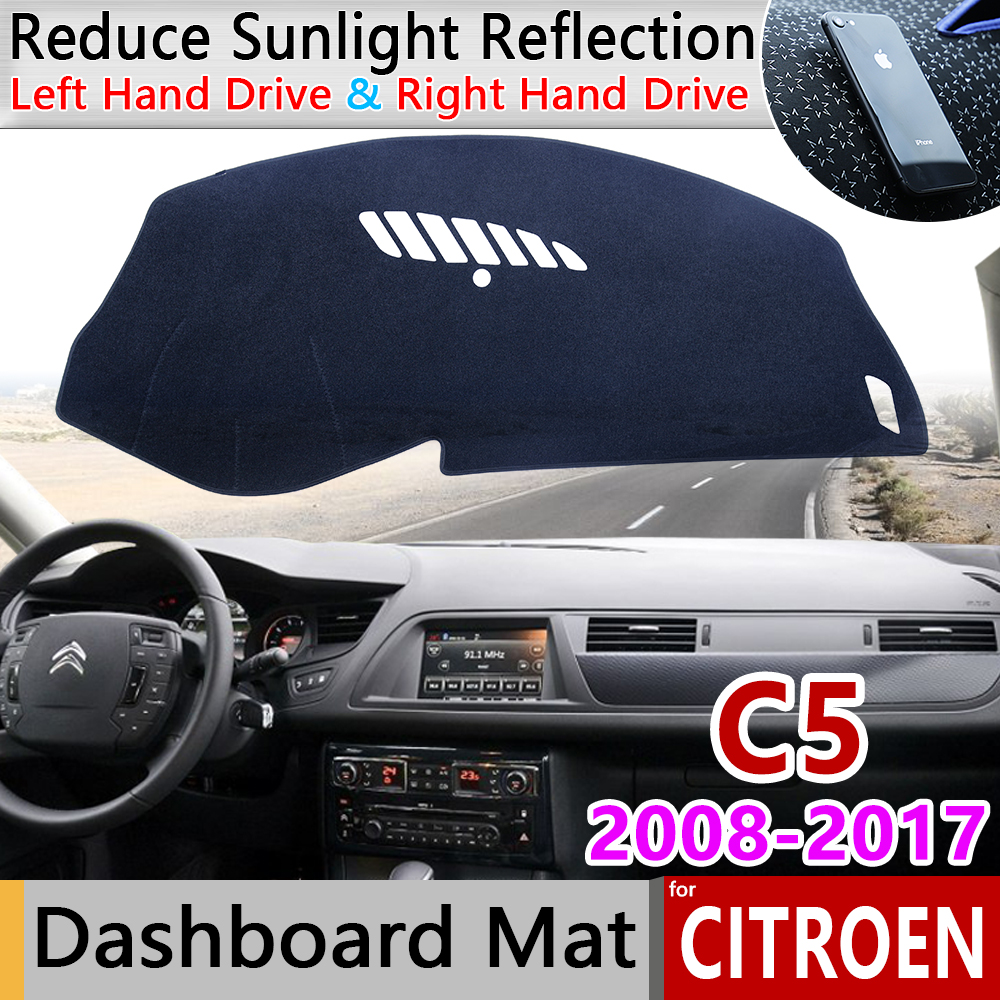 For Citroen C5 2008 2009 2010 2011 2012 2013 2014 2015 2016 2017 MK2 Anti-Slip Mat Dashboard Cover Sunshade Dashmat Accessories