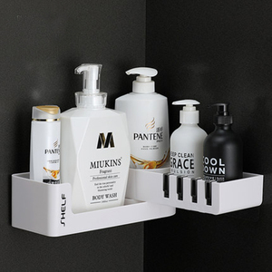 Image 5 - Bathroom Shelf Corner Shelves Shampoo Holder Kitchen Storage Rack Mess Shower Organizer Wall Holder Space Saver Household Items