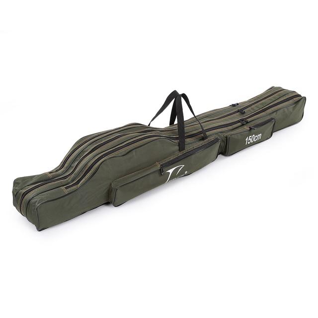 FDDL 120CM 130CM 150CM 휴대용 접이식 낚시대 가방 다목적 캐리어 캔버스 낚시대 유혹 도구 보관 가방 케이스