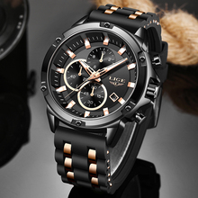 цена на LIGE 2020 Fashion Sport Watch Men Waterproof Mens Watches Top Brand Luxury Silicone Strap Quartz Wrist Watch Relogio Masculino