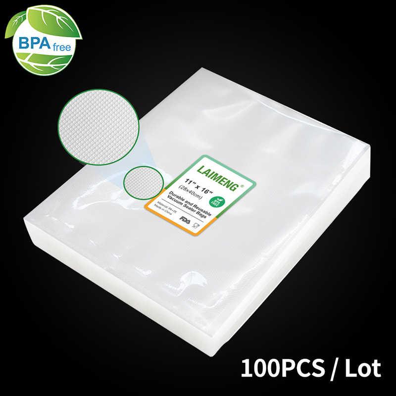 Laimeng sacos de vácuo para aferidor do vácuo filme de armazenamento de alimentos sacos de vedação a vácuo 100/lot aparelho de cozinha sacos de embalagem sous vide p106