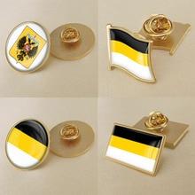 Заколки/Броши/Значки герб Российской империи с флагом