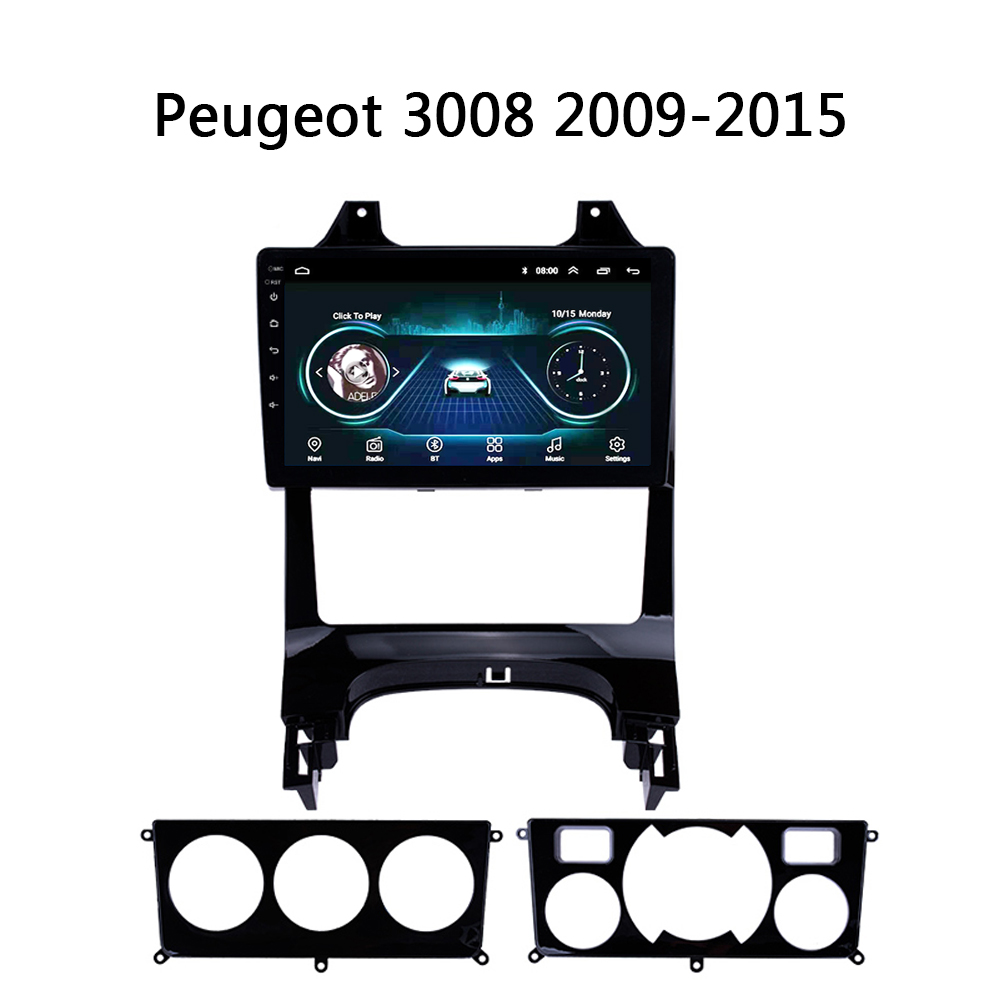 car radio Android 8.1 <font><b>for</b></font> <font><b>Peugeot</b></font> <font><b>3008</b></font> 2009-2015 central multimedia Video stereo Player HD mirror link <font><b>GPS</b></font> Navigation Automobile image