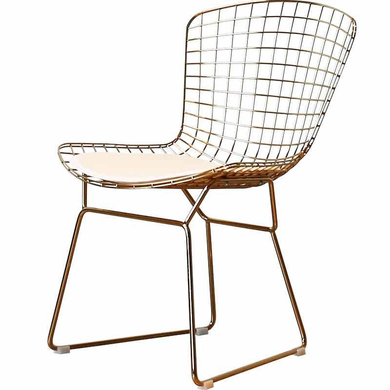 Nordic Computer Chair Office Personality Fashion Wire  Backrest Casual Modern Minimalist Hollow Creative Restaurant Dining