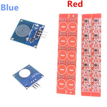 10pcs TTP223 Touch Key Switch Module Touching Button Self-Locking/No-Locking Capacitive Switches Single Channel Reconstruction