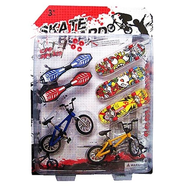 8Pcs Tech Deck Finger Bike Bicycle And Skateboard Kids Children Wheel Toys Gifts