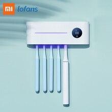 Xiaomi Lofans Smart Toothbrush Sterilizer Ultraviolet Sterilization Smart Screen Display Hole Free Installation Type-C Charging