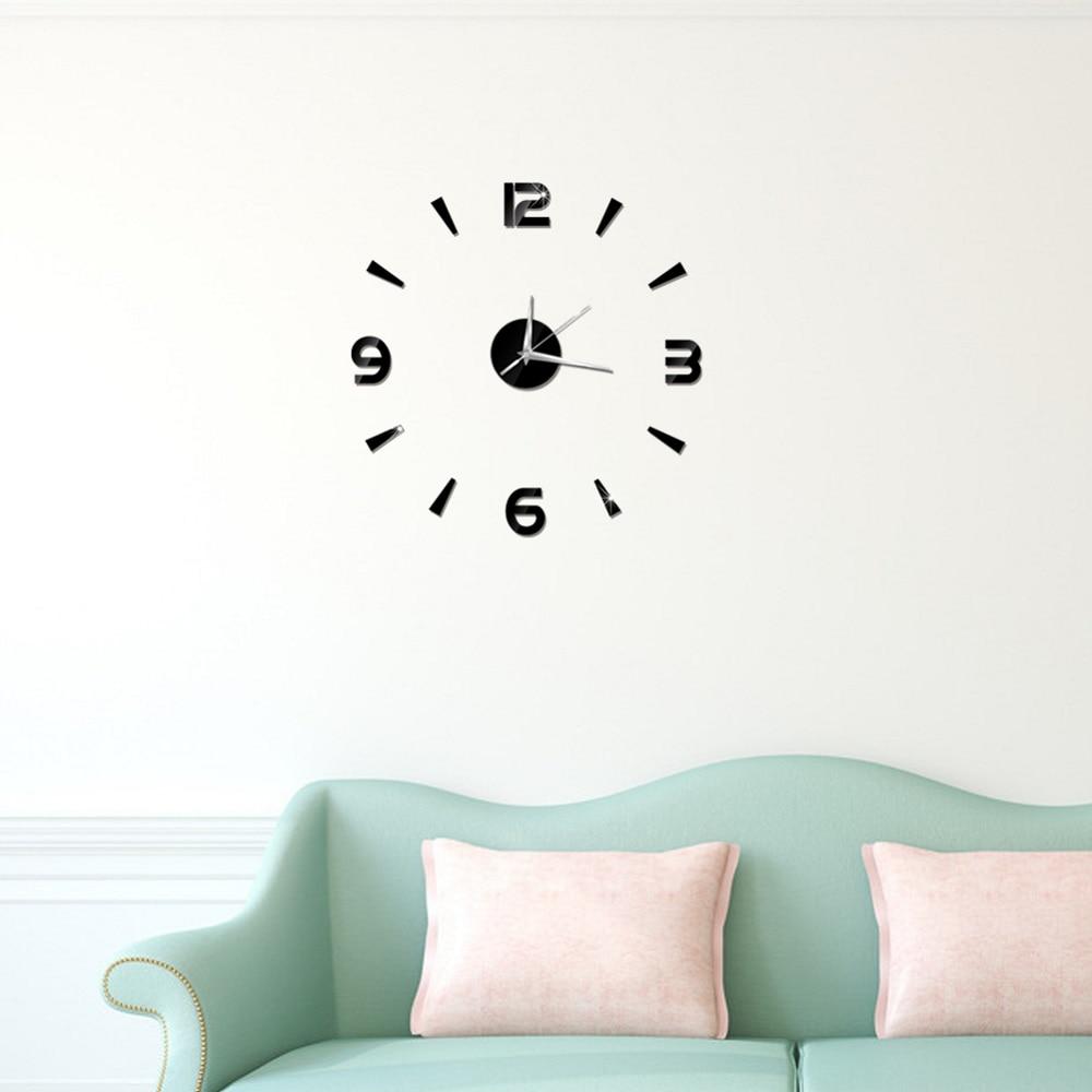 2019 New 3D Wall Clock Mirror Wall Stickers Fashion Living Room Quartz Watch DIY Home Decoration Clocks Sticker reloj de pared 15