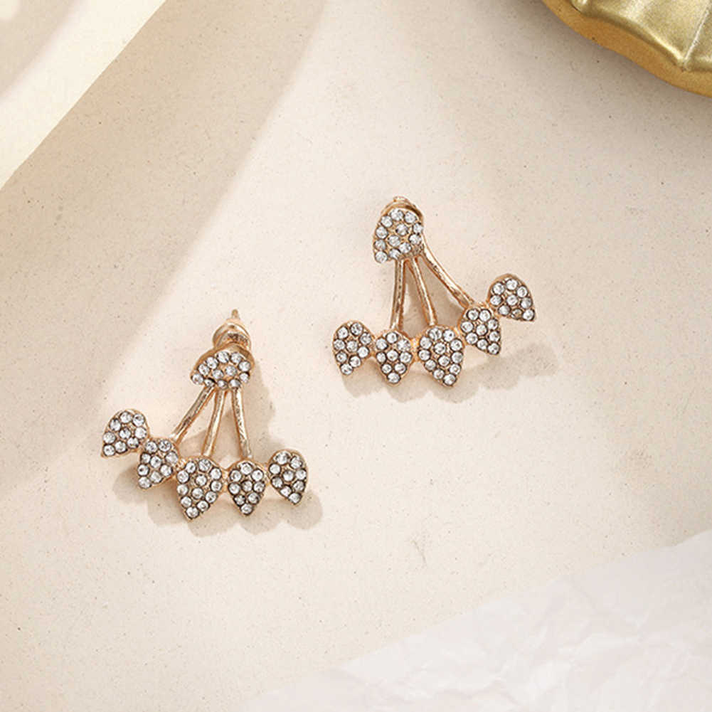 女性の耳のネイル装飾人格デザインより水フル掘削耳ネイル new スタイル前と後耳ネイル耳装飾品