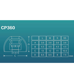 Image 3 - DUNU SpinFit CP360 silikonowe wkładki douszne dla oryginalne słuchawki bezprzewodowe Bluetooth słuchawki CP 360 1 karta z 2 sztuk (małe/bardzo mały)