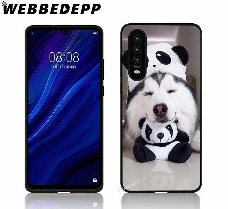 Забавная собака хаски Мягкий ТПУ чехол для Huawei P8 P9 P10 P20 P30 Lite Pro P Smart Plus Z чехол