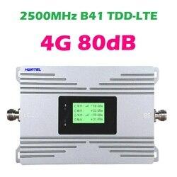 4G LTE TDD B41 repeater 2500 MHZ Band 41 TD LTE + Cellphone signal amplifier internet network modem booster 0.5 watt 27dBm 80db