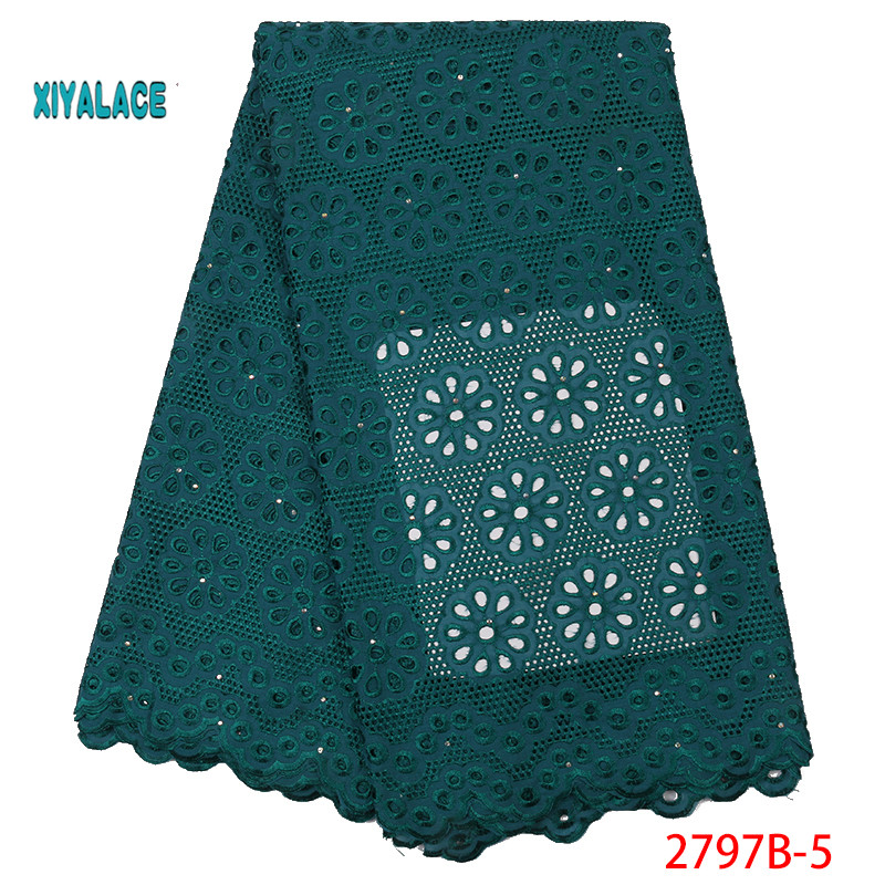 Nigerian Lace Fabric African Lace Fabric 2019 High Quality Lace With Embroidered For Women French Mesh Lace Fabric YA2797B-5