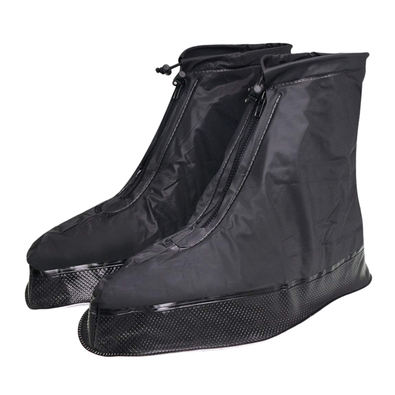Shoe Cover For Men Women Rain Boots Waterproof With Thickened Edge/Button Strap/Zipper/Elastic Bandage XL image