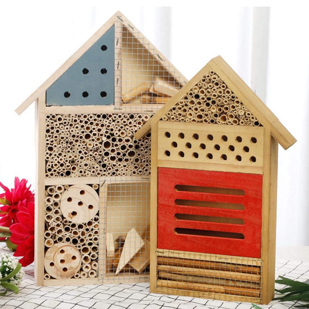 Insect Hotel Insect House Bee Box Insect Feeding Nest Butterfly Insect Hotel Nesting Box For Bees Butterflies Garden Tool 30E