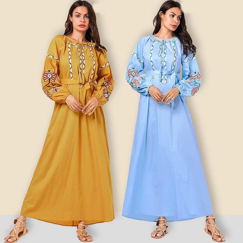 Djelaba Femme Kaftan Dubai Abaya Turkey Long Sleeve Hijab Muslim Dress Turkish Islamic Clothing Abayas For Women Caftan Marocain