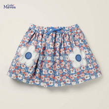 Little maven 2020 new summer baby girl clothes cotton skirt children flower mini