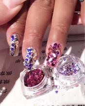 6 Цвета хамелеон лак для ногтей пайетками paillette с бриллиантами