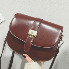 Luxury Designer Handbag High Quality Leather Women Saddle Bag  Mini Lock Flap Messenger Bag Ladies Clutch Vintage Shoulder Bags fashion designer flap lady brand women shoulder bag chains swallow lock messenger bags genuine leather handbag original quality
