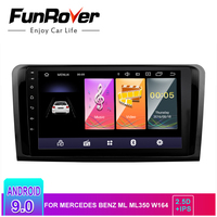 Funrover IPS 2.5D android9.0 car dvd gps player radio multimedia For Mercedes Benz ML W164 GL X164 ML350 ML320 ML280 GL350 GL450