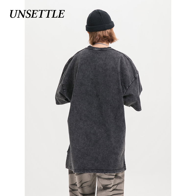 UNSETTLE Harajuku t shirts Oversized Summer Men/Women Hip Hop Fashion Gothic Print Tshirt Men Streetwear T-shirts Short Sleeve 2