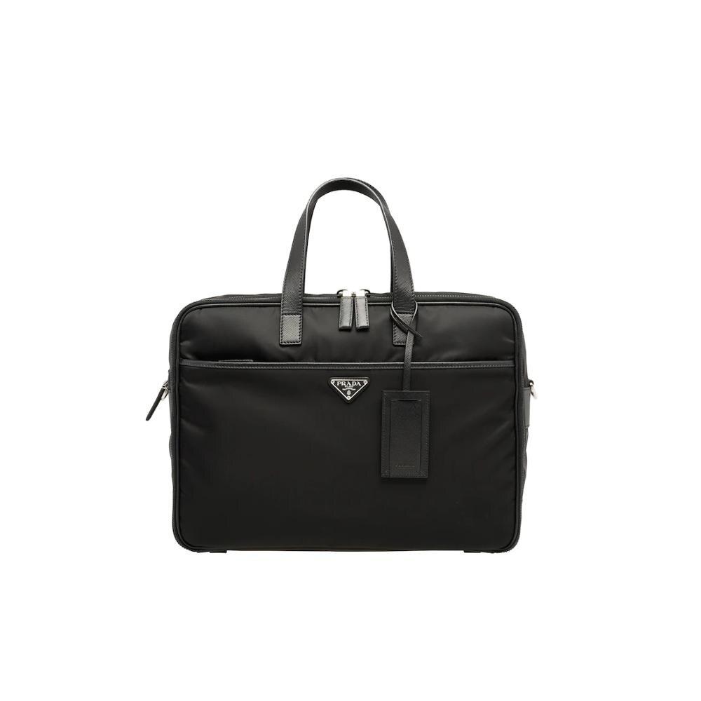 Prada Nylon Laptop Bag Business Handbag For Men Large Capacity Shoulder Bag 2VE407_064_F0002_V_OOO