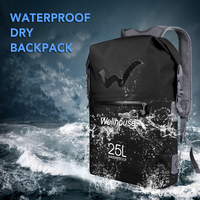 25L Waterproof Backpack Beach Swimming Bag Rafting River Dry Sack Outdoor Ultralight Bag Backpack for Camping Hiking Traveling