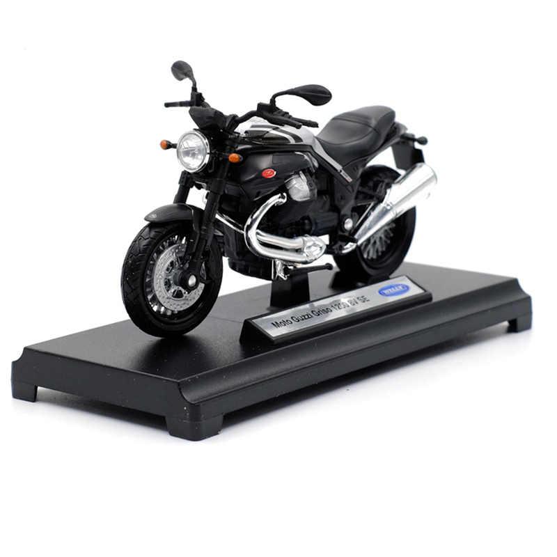 Welly 1:18 Moto Guzzi Griso 1200 8V Alloy Diecast Sepeda Motor Model Bisa Diterapkan Shork-Absorber Mainan untuk Anak-anak Hadiah mainan Koleksi