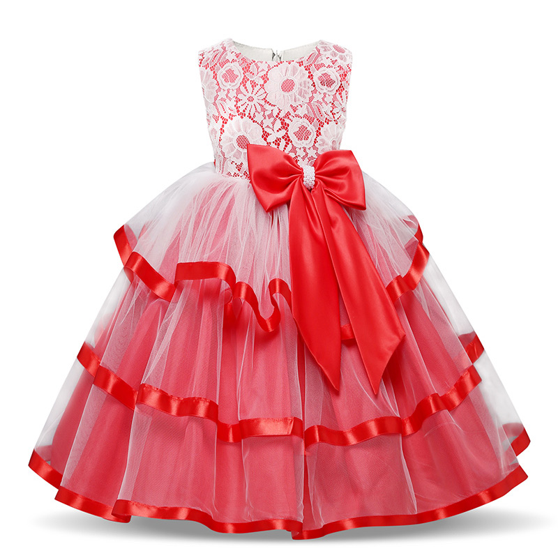 H8846727589a741f4b14c878f0e2ea6a2f Girls Princess Kids Dresses for Girls Tutu Lace Flower Embroidered Ball Gown Baby Girls Clothes Children Wedding Party Dress