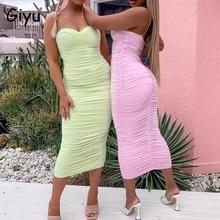 Giyu Sexy Club Party Dress Women 2020 Summer Spaghetti Strap