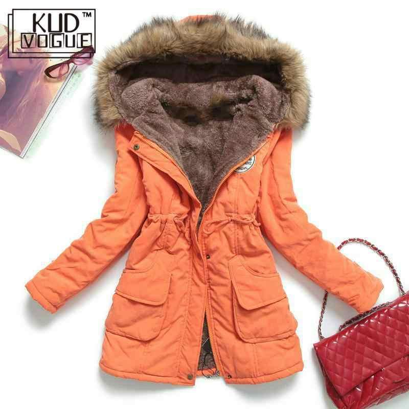 冬のジャケットの女性厚く暖かいフード付きパーカー Mujer 綿が詰めコート段落プラスサイズ 3xl スリムジャケット女性