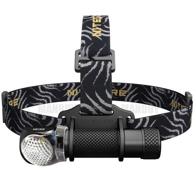 新 NITECORE HC33 ヘッドランプ + コールドホワイト 1800LM CREE XHP35 HD LED ヘッドライト防水トーチキャンプ旅行送料無料