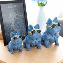 Dog-Piggy-Bank Decoration Resin-Glasses Creative Lucky Nordic Geometric Origami