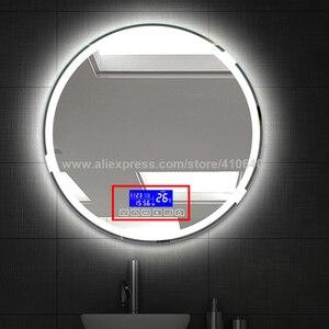Image 5 - K3015CA Luce Dello Specchio di Tocco Interruttore Con Bluetooth Fm Radio Temperatura Data di Visualizzazione del Calendario per il Bagno o la Armadietto A Specchio