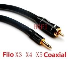Fiio player E18 X4 X5 X3 one generation ;Kaiyin N5 n6 Qian Longsheng Qa360 Coaxial High quality 3.5 turn Lotus RCA audio cable