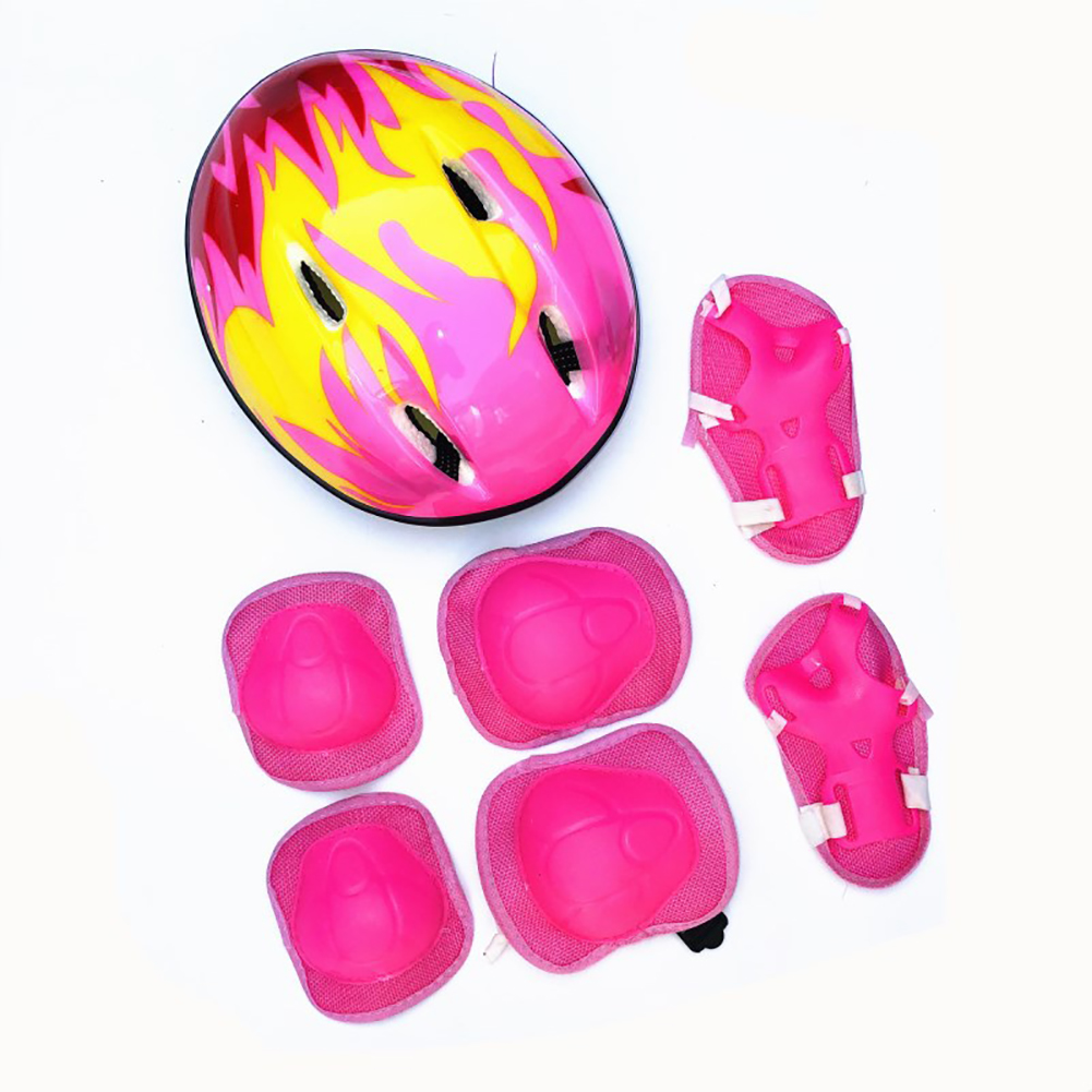 Helmet Bicycle Cycling-Roller Child Protective-Gear Skating Sports-Knee Kid 7pcs Elbow-Pad title=