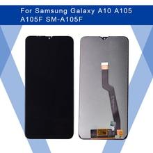 Dành Cho Samsung Galaxy Samsung Galaxy A10 A105 A105F Màn Hình LCD Màn Hình AMOLED Màn Hình Hiển Thị Màn Hình + Cảm Ứng Bộ Số Hóa Cho Samsung Màn Hình Chính Hãng