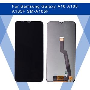 Image 1 - Do SAMSUNG Galaxy A10 A105 A105F ekran LCD ekran amoled + Panel dotykowy przetwornik analogowo cyfrowy do samsunga wyświetlacz oryginalny