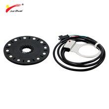 Elektryczny pedał rowerowy 12 magnesów e-bike PAS System asystent czujnik prędkości czujnik czarny kolor łatwy w instalacji Ebike części E rower