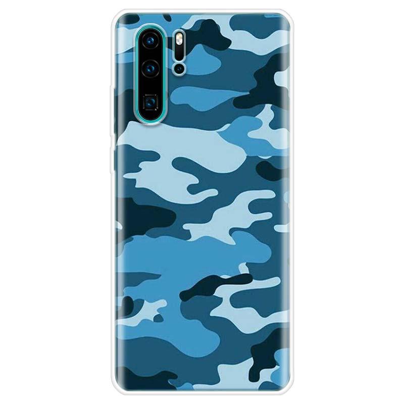 Camouflage Pattern Phone Case For Huawei P10 P20 P30 P40 Lite P20 Pro P30lite Mate 20 P SMART Z 2018 2019 Back Coque Fundas