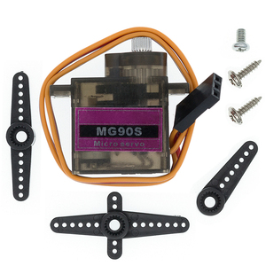 Image 1 - 20pcs/lot MG90S Metal gear Digital 9g Servo For Rc Helicopter plane boat car MG90 9G