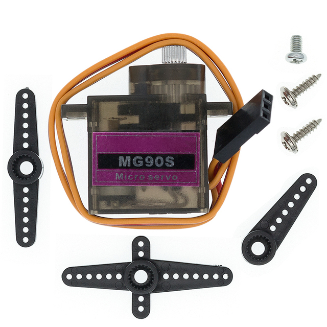 20pcs/lot MG90S Metal gear Digital 9g Servo For Rc Helicopter plane boat car MG90 9G