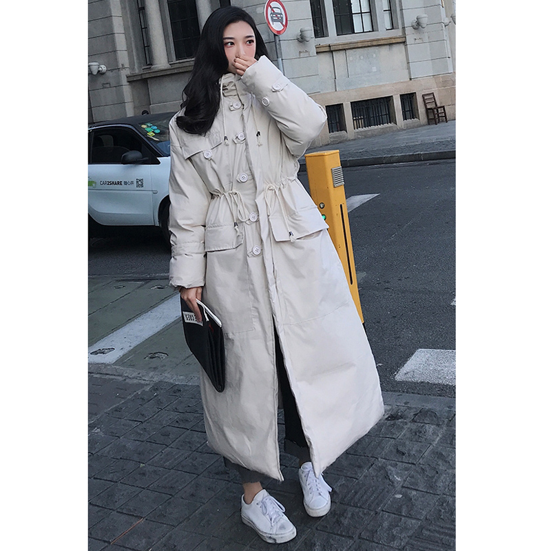 Image 4 - Winter Jacket Women Oversized Parka Coat Hooded Maxi Long Plus 