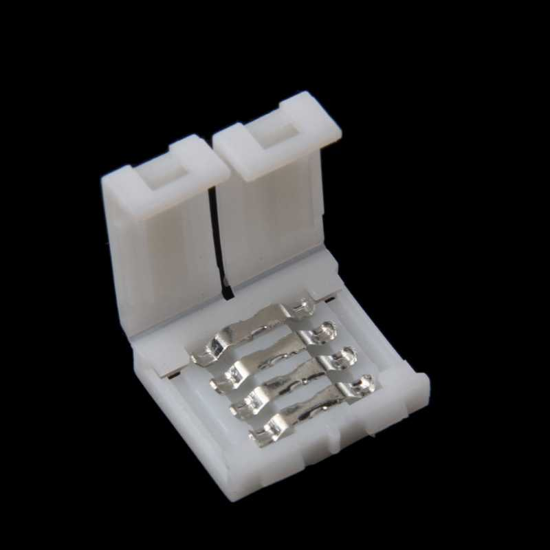 Solderless Clip-On Coupler Connector 4 Pin 10Mm Voor 5050 Rgb Led Strip Licht
