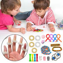 Sensory Fidget Toys Set Pack, Push Bubble Bundle Assortment, Stress Relief Toys for Adult Kids with ADHD, Autism, Anxiety