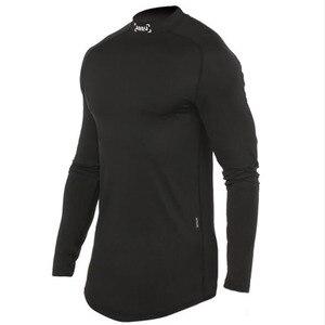 2020 Fitness T Shirt Men Long Sleeve Sports Top Running T-shirt Workout Soccer Sweatshirt O-neck Sport Shirt Men(China)