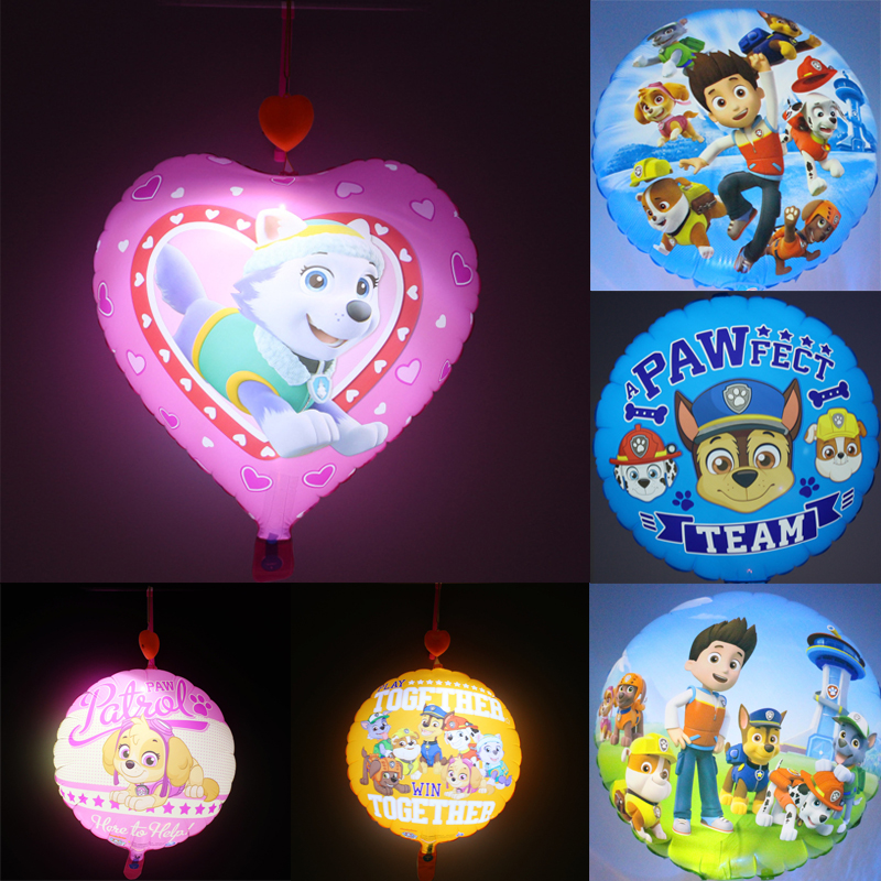 Paw Patrol  1pc LED Light Balloons Children's Inflatable Cartoon Flash Balloon Party Decorations Toy For Kid Inflatable Toys