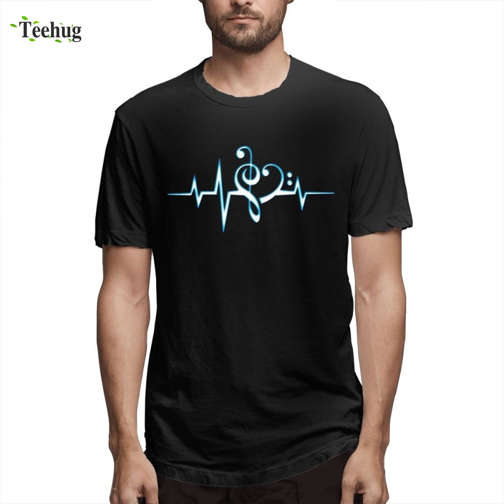 Crewneck Creative Light Up And Down Men Tee Shirt Flashing Equalizer Homme Boy Funny Top Design